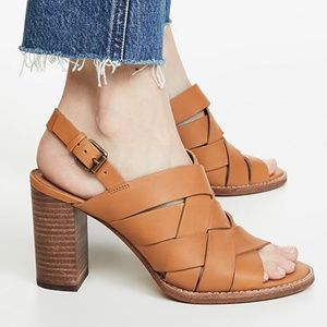 NEW Madewell Woven Leather CINDY High Heel Sandals